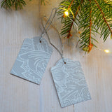 Wall paper Christmas tags - Dessin Design
