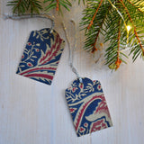 Wall paper Christmas tags