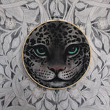Wall hoop, snow leopard face - Dessin Design