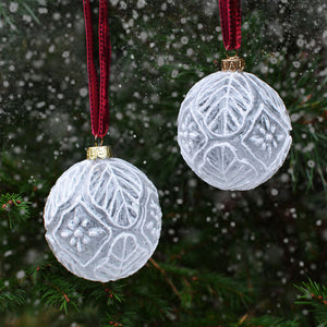 Christmas bauble - white, Dessin Design