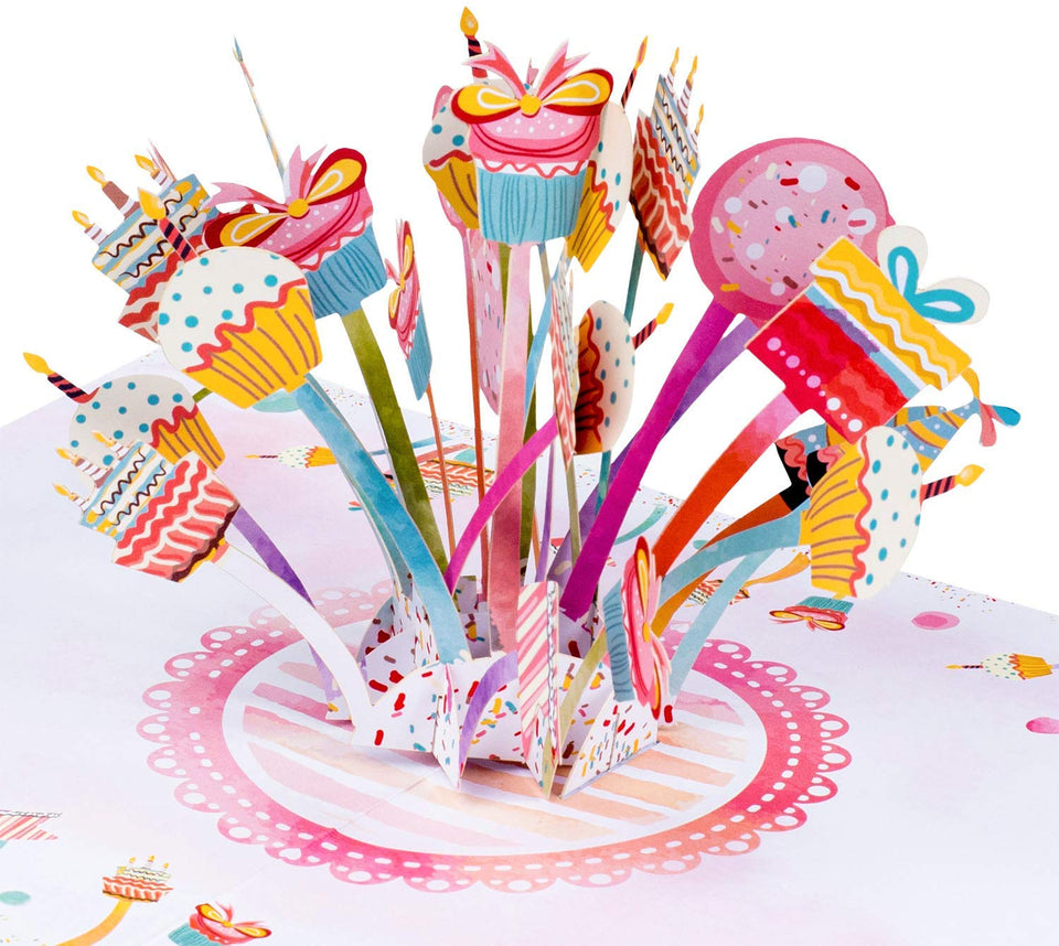 Party Explosion Pop Up Birthday Card