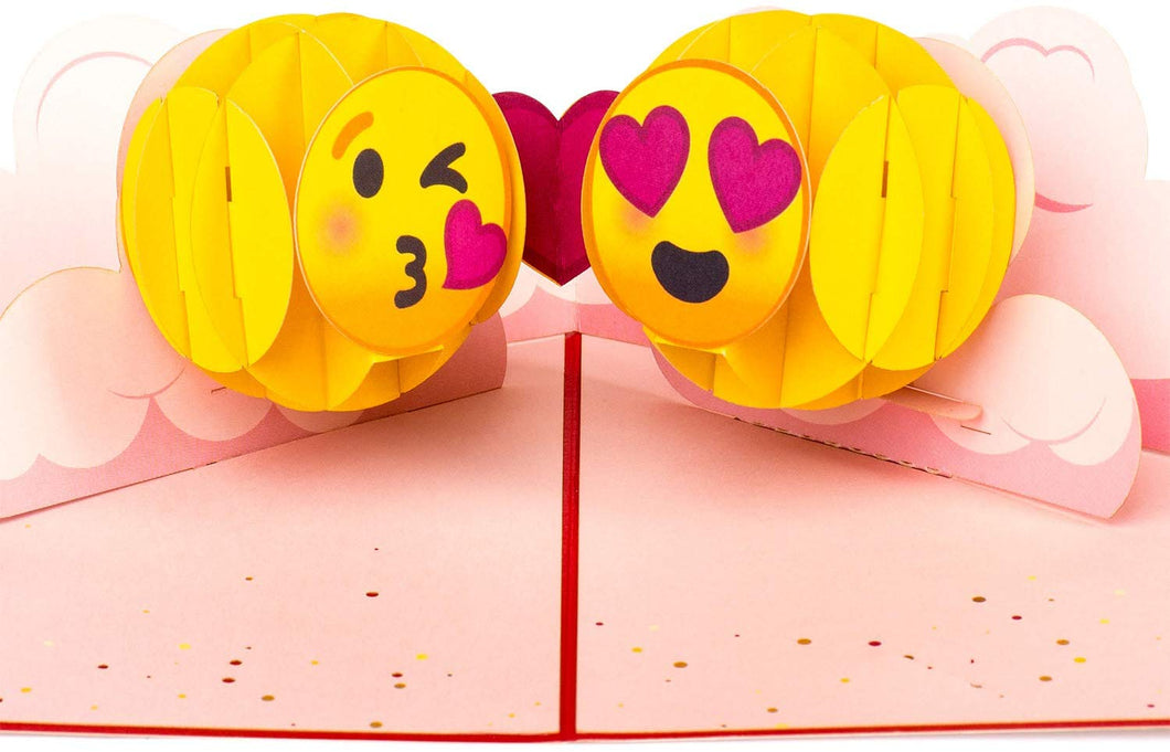 Emoji Love Valentines Pop Up Card