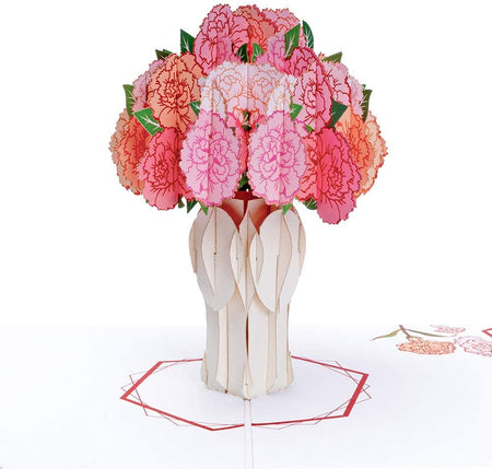 Carnation Bouquet Pop Up Card