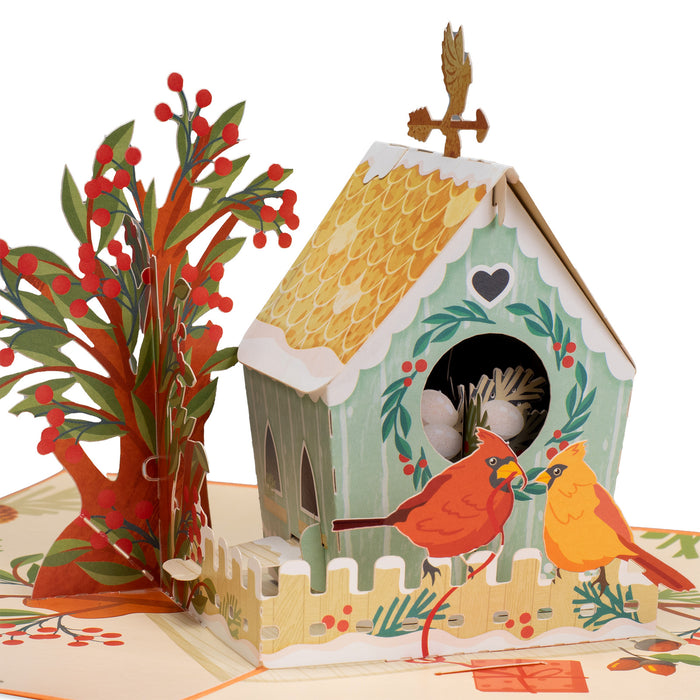 Birds House Pop Up Valentines Day Card
