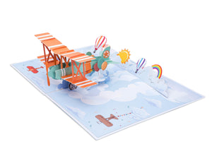 BiPlane Pop Up Card
