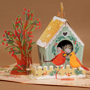 Birds House Pop Up Card