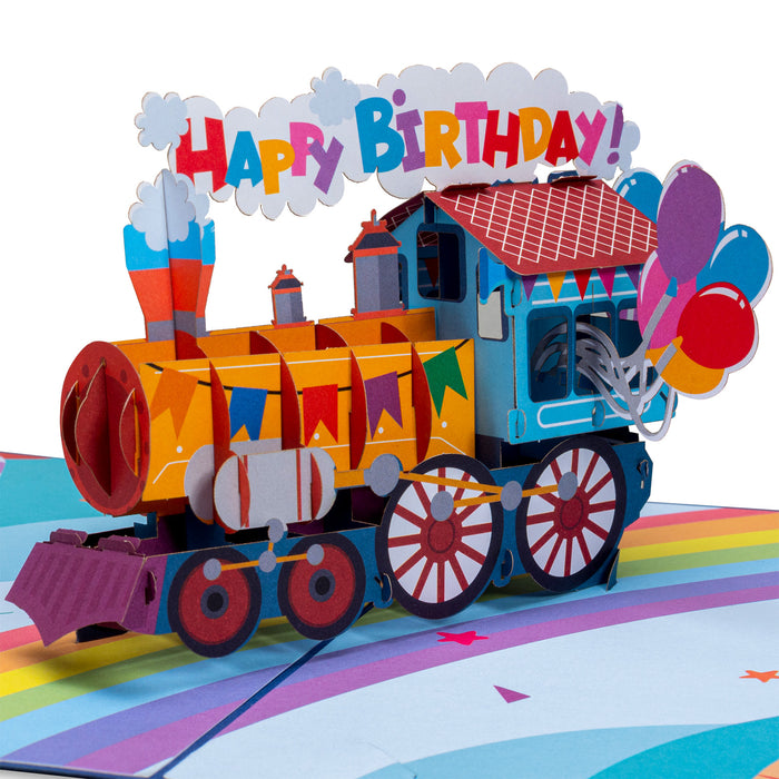 Happy Birthday Train Pop Up Card