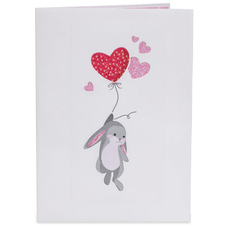 Love Bunnies Valentines Day Pop Up Card