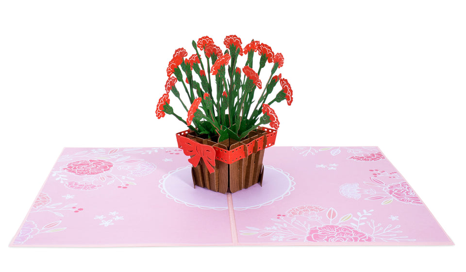 Carnations Pop Up Card