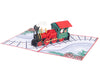 Christmas Train Pop Up Card