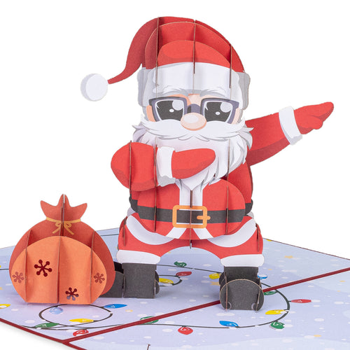 Dancing Santa Pop-up Christmas Card