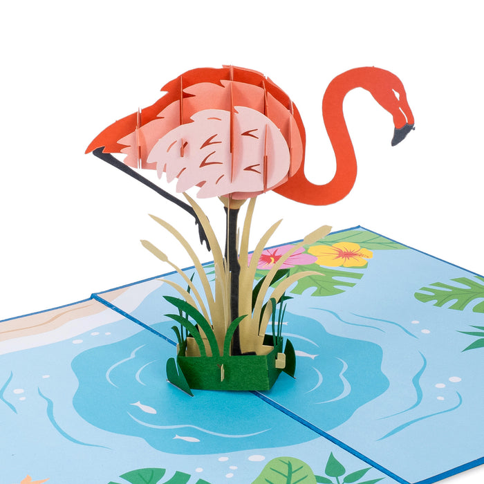 Flamingo Pop Up Card