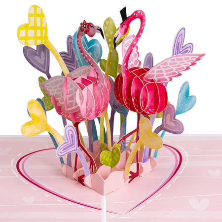Flamingo Love Pop Up Card