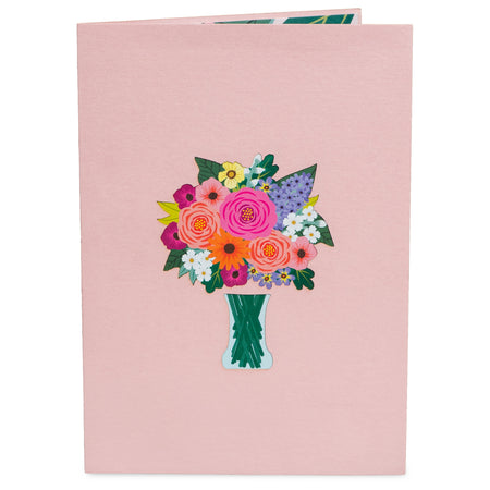 Floral Arrangement Pop Up Card