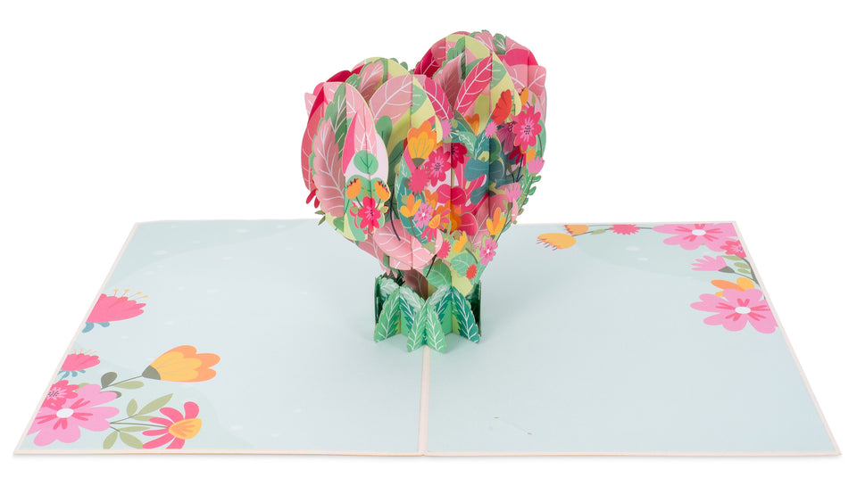 Floral Heart Pop Up Card