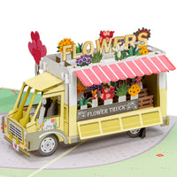 Flower Truck Pop Up Card