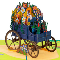 Flower Wagon Pop Up Card