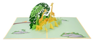 Giraffe Pop Up Card