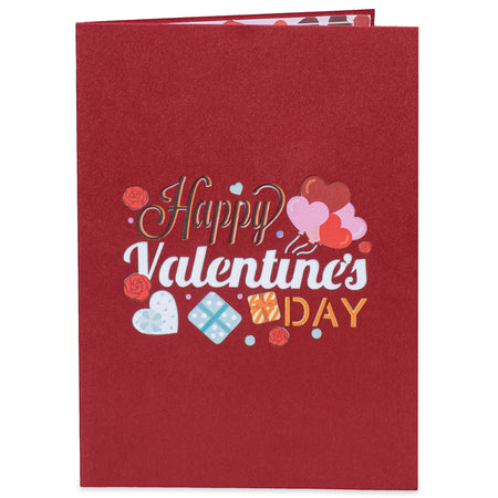 Happy Valentines Day Pop Up Card