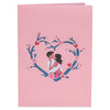 Lovers Valentines Day Pop Up Card