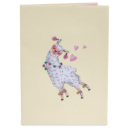 Llama Love Pop Up Card
