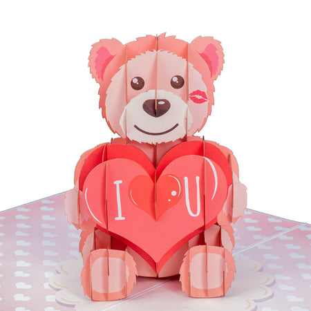 I Love U Bear Pop Up Card