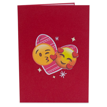 Love Emojis Pop Up Card