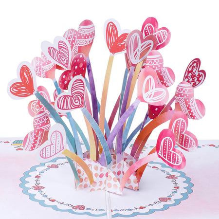 Hearts Explosion Pop-up Card