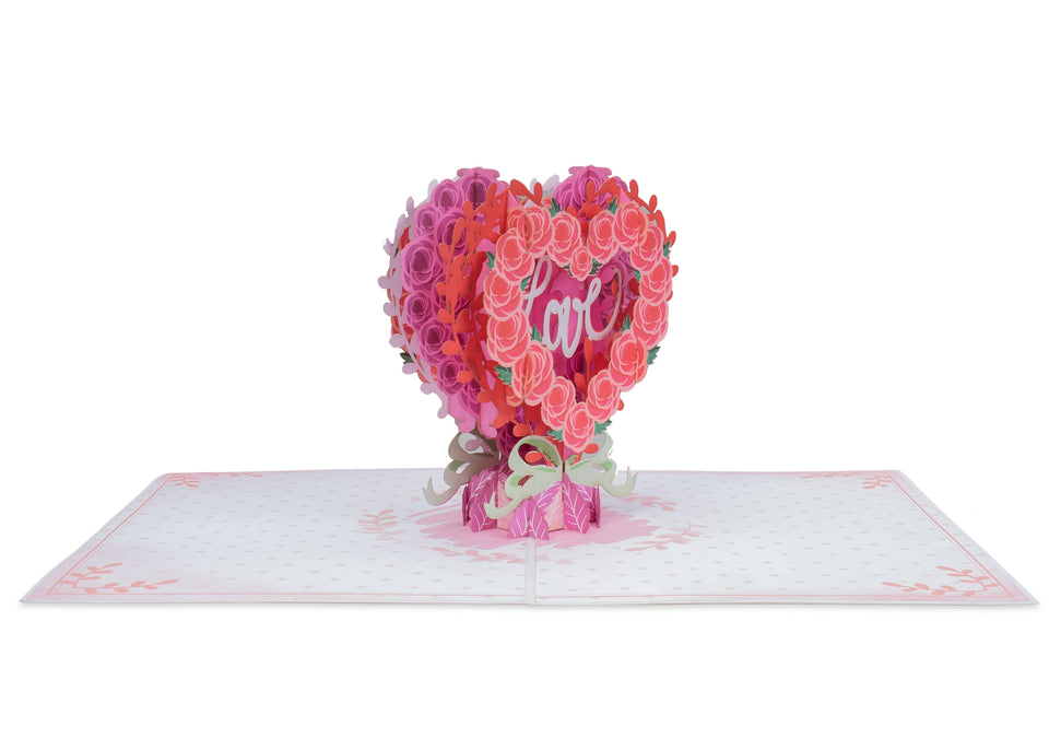 Floral Love Heart Pop Up Card