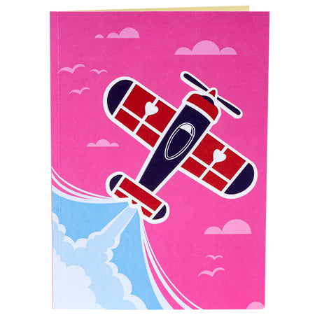 Love in The Air (Plane) 3D Popup Greeting Card