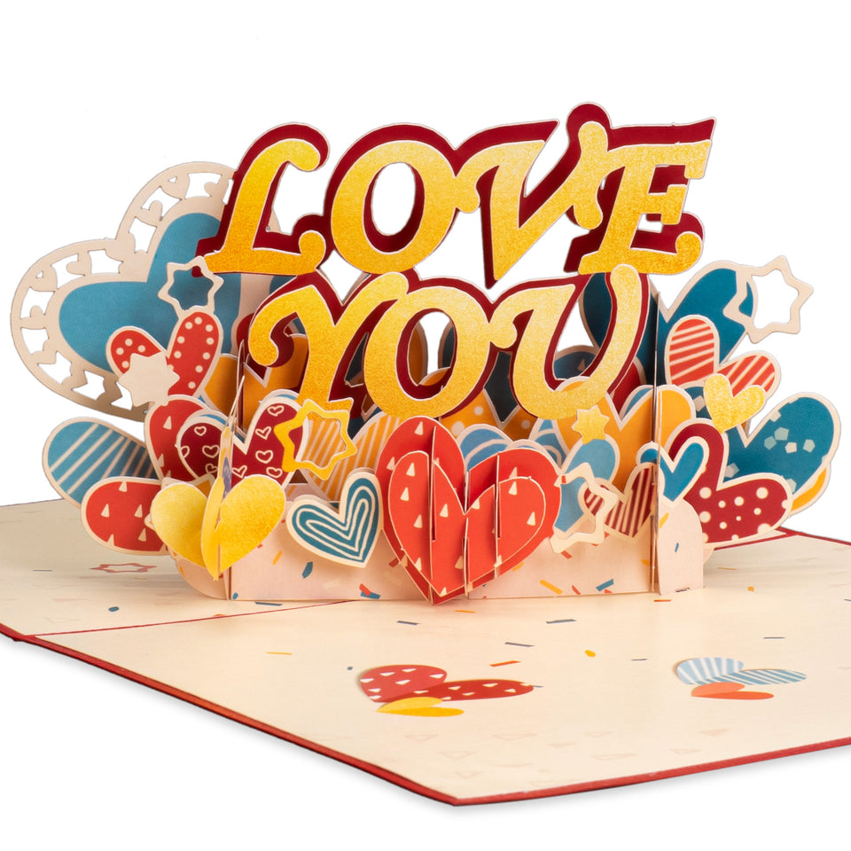 "Paper Love ""Love You"" Pop Up Card"