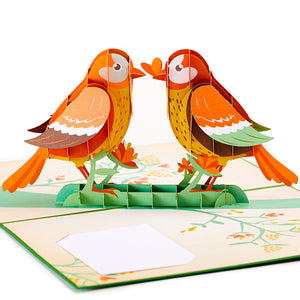 Lovebird Pop Up Card