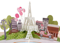 Paris Day Pop Up Card