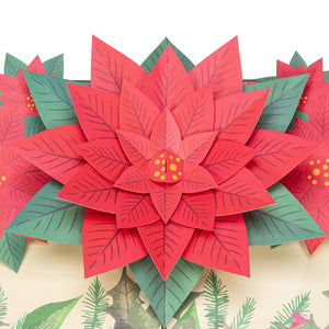 Poinsettia Pop Up Christmas Card