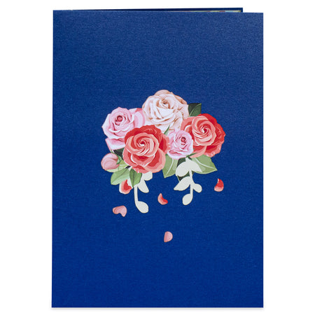 Pink Roses Pop Up Card