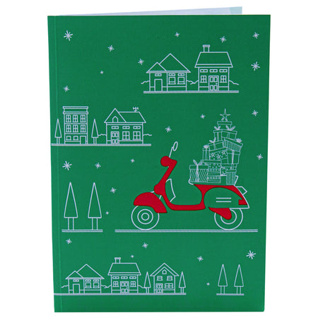 Santa's Biker Pop Up Christmas Card