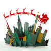 Skyline Santa Sleigh Pop Up Christmas Card
