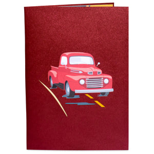 Classic Truck Pop Up Card