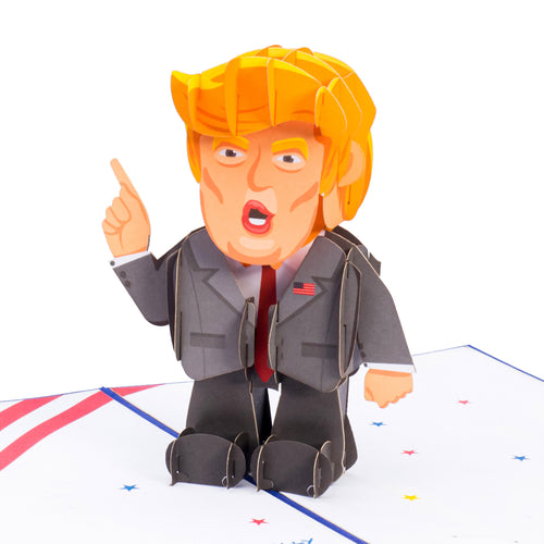 Paper Love Trump Pop Up Card, 3D Popup Greeting Cards, for Fathers Day, Birthday, Graduation, Thinking of You, All Occasion