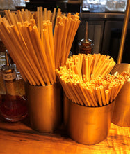 "Load image into Gallery viewer, sWHEATie STRAWs - Cocktail 5.5""  500 pack - PERFECT FOR BUSINESS!  Natural Drinking Straws, Wheat Straws, Single-use, Disposable"