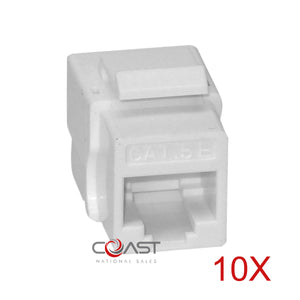 10X White Cat5e keystone jack CN-KD-KJ5-16 UTP Tooless Ethernet Wall Jack Plug