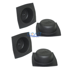 "2X Universal 5 1/4"" Black Round Foam Acoustic Audio Stereo Speaker Baffle VXT52"
