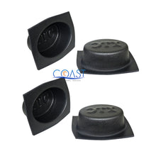 "Load image into Gallery viewer, 2X Universal 6"" x 8"" Black Round Acoustic Audio Stereo Speaker Baffles VXT682"