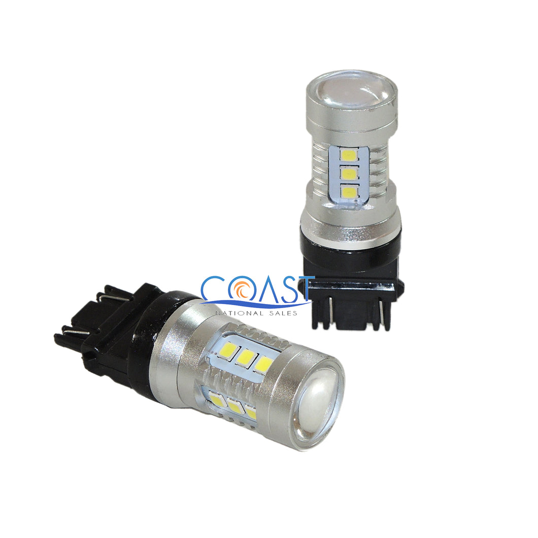 2X High Power 15-SMD Samsung Led Projector White DRL Driving Lights 3156 3157