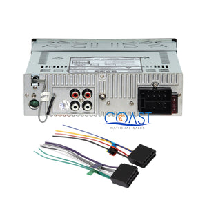 Boss Car Radio Single Din Bluetooth Dash Kit Harness for 2007-12 Nissan Sentra