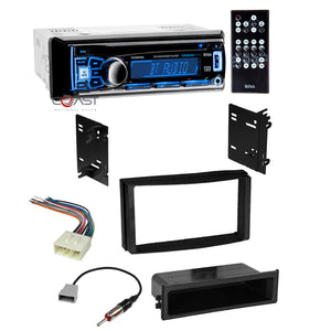 Boss Car Stereo Bluetooth Single Din Dash Kit Pocket Harness for 2009-14 Subaru