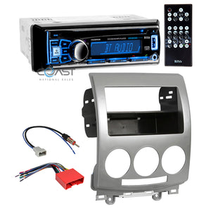 Boss Car Stereo Bluetooth Double Din Dash Kit Harness for 2006-2010 Mazda 5