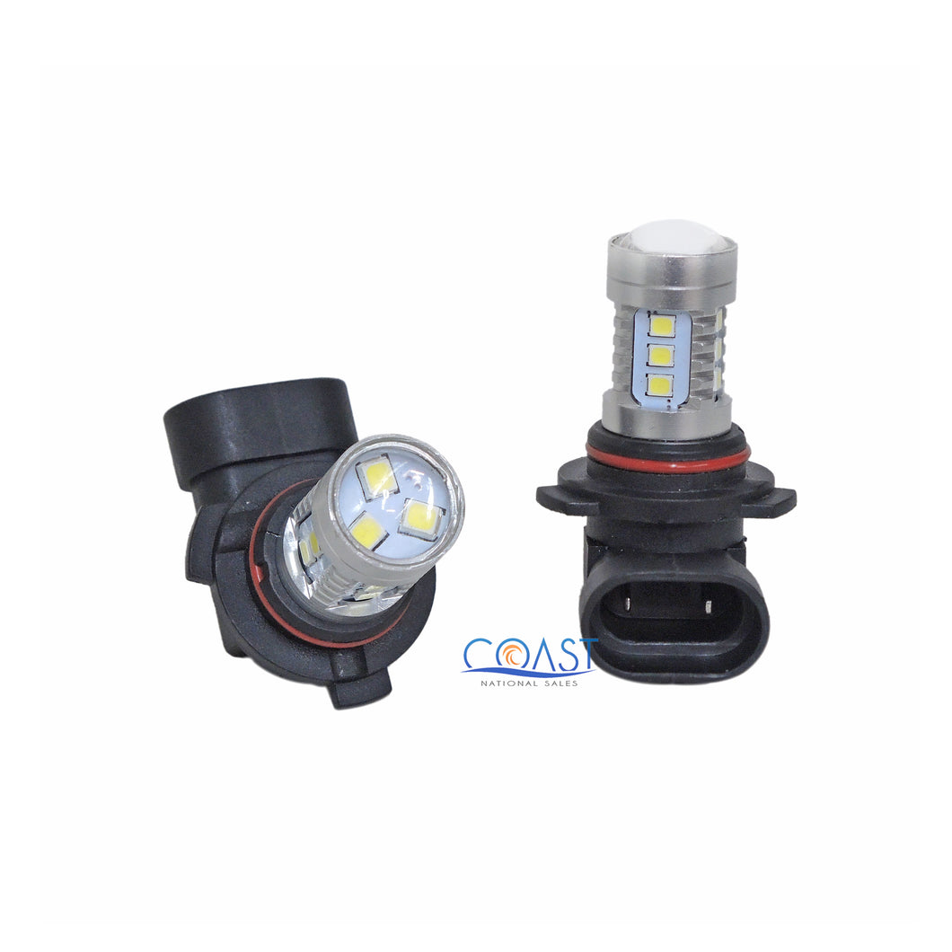 CREE 15 High Power Projector Samsung White LED DRL Fog Light Bulb 9006 HB4 Pair