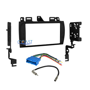 Car Radio Stereo Double Din Dash Kit Wire Harness for 1996-2005 Cadillac