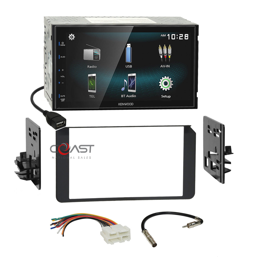 Kenwood Bluetooth Android Stereo Dash Kit Harness for 1995+ GMC Cadillac Chevy